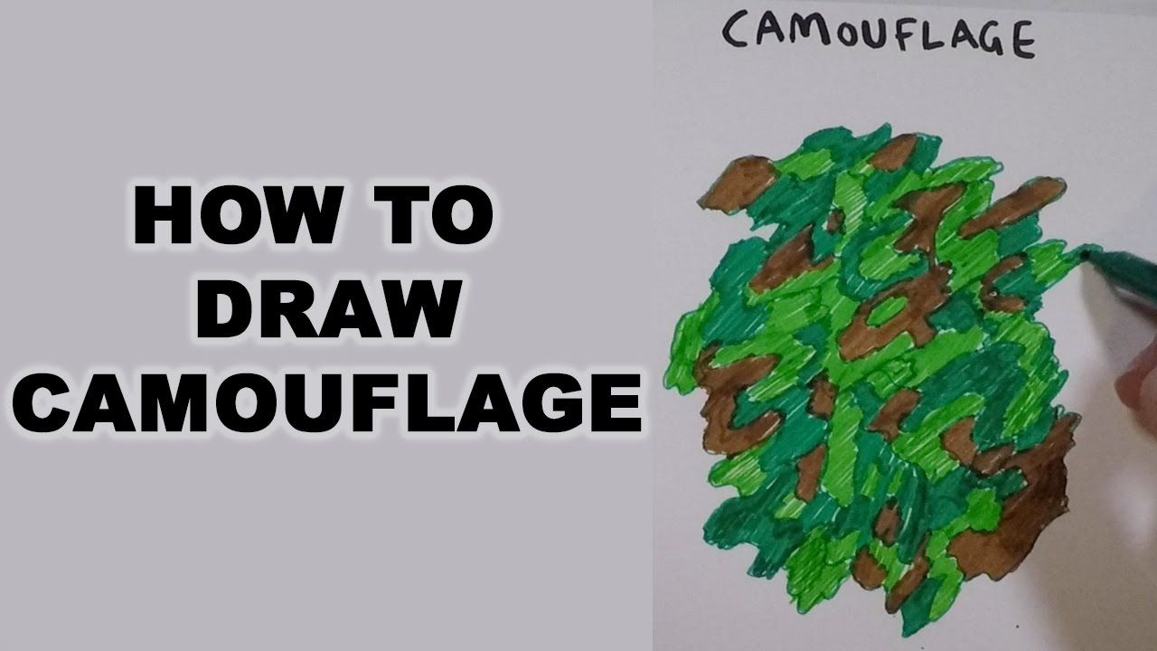 How To Draw Camouflage Youtube