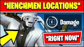 DEAL DAMAGE TO HENCHMEN & ALL HENCHMEN LOCATIONS (Fortnite SEASON 2 Challenges)