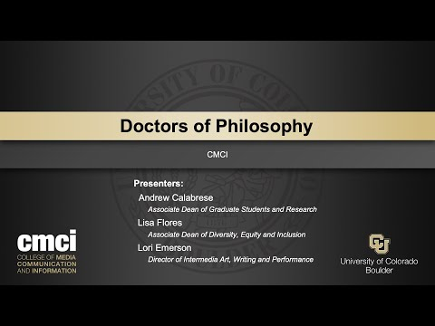 CMCI Faculty Present the 2021 Doctor of Philosophy Graduates