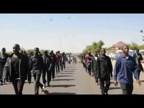 The trekking  From Kano to Husainiyya Bakiyya to commemorate the 40th day of Ashura.