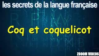 Les Secrets De La Langue Française :  Coq et coquelicot