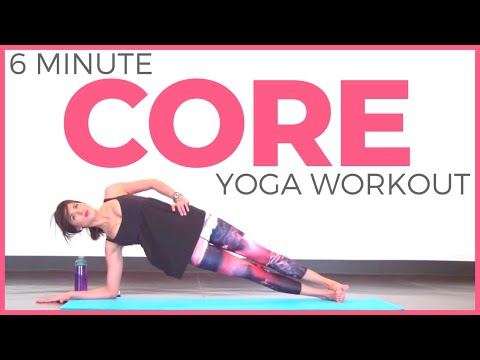 5 minute Power Yoga Workout for Core Strength | Sarah Beth Yoga