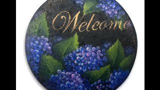 Hydrangea Stepping Stone Tole and Decorative Painting by Patricia Rawlinson