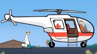 Мультфильм-конструктор - Вертолет скорой помощи- Большая Сборка