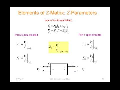 Electric Circuit Analysis - Two Port network (Z & Y Parameters)из YouTube · Длительность: 11 мин25 с