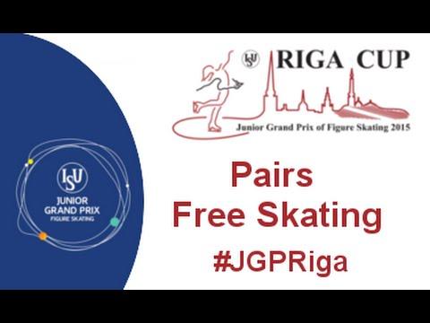 ISU 2015 Jr. Grand Prix Pairs Free Skate Riga