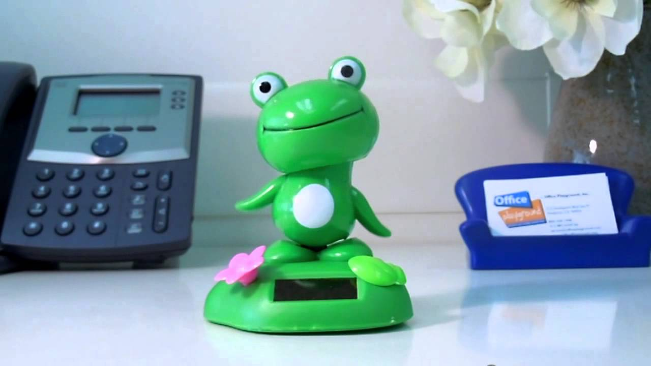 Solar Power Motion Toy  Standing Frog Video