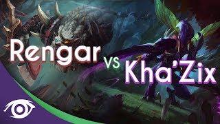 Repeat youtube video 1v1 Mid: Rengar vs Kha'Zix [Champion Rap Battles]