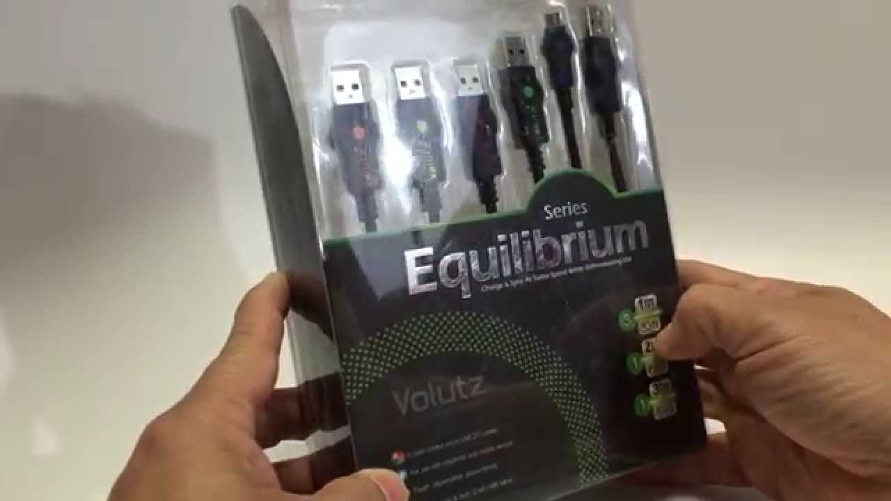 Volutz 5-Pack Premium Color Coded Micro USB Cables Assorted Lengths ...