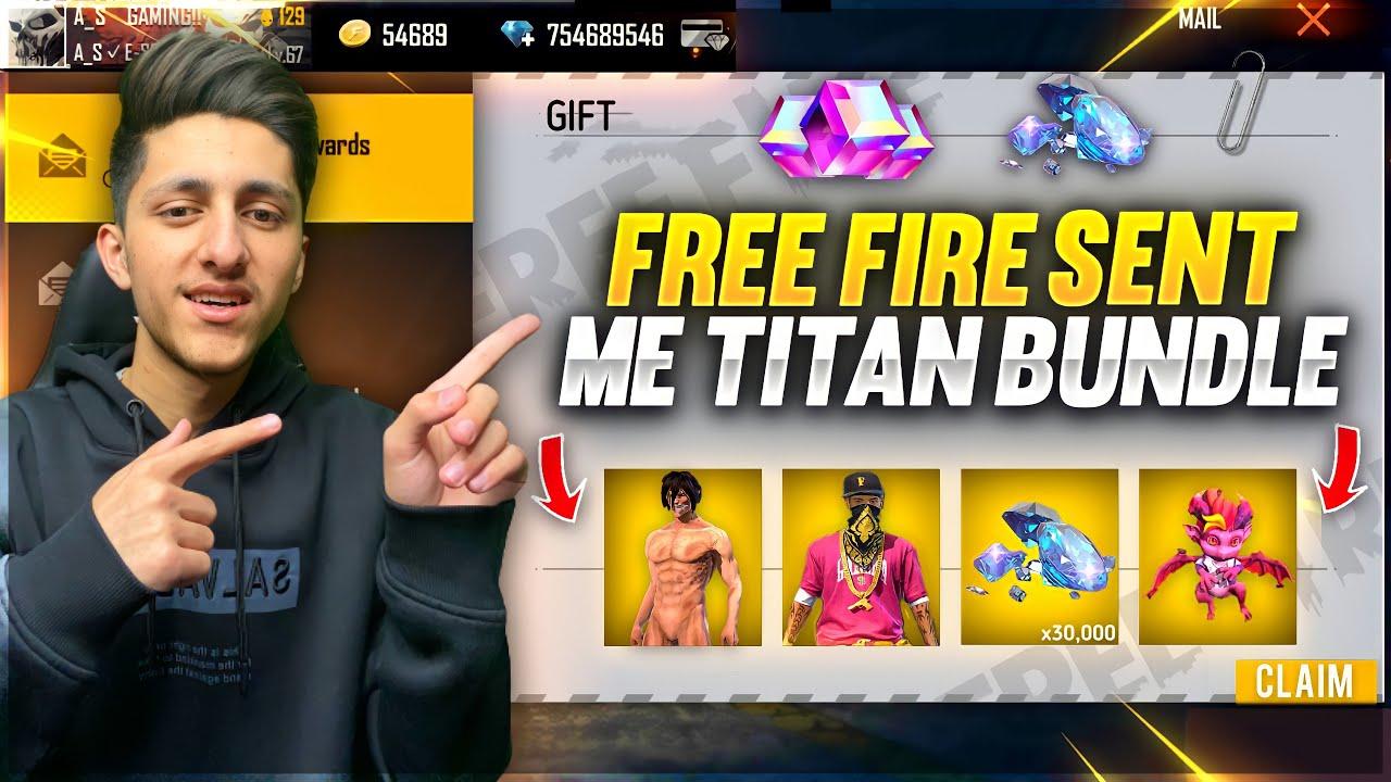 Download Free Fire Sent Me Titan Bundle 10,000 Diamond 💎 & New Pet New Upcoming Event - Garena Free Fire