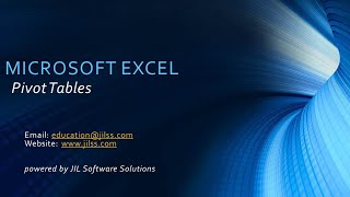 Microsoft Excel - Pivot Table