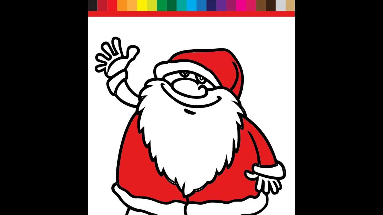 Belajar Mewarnai Gambar Lucu Untuk Anak Santaclaus Pohon Natal Dan