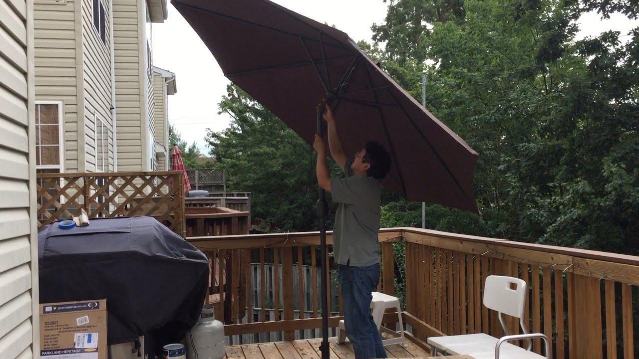 Patio Watcher 9 Feet Aluminum Patio Umbrella with Push Button Tilt