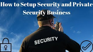 How to Setup Security and Private Security Business or Startup in India (हिन्दी  में )