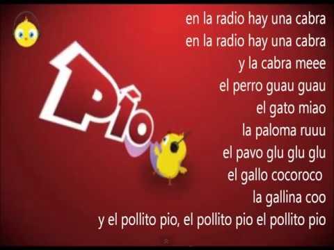 El Pollito Pio Letra de la Cancion en español)