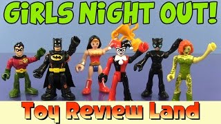 Imaginext Girls Night Out with Poison Ivy, Harley Quinn, Catwoman, Batman, Robin, and Wonder Woman