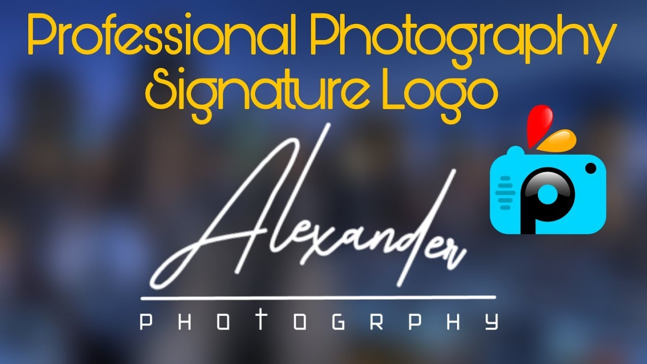 Professional Photography Logo Design Picsart Tutorial | Signature Logo  watermark for photography