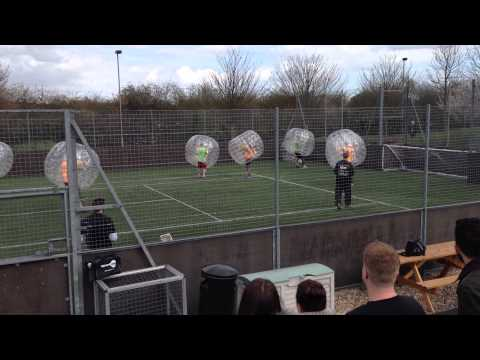 Pro Bubble Football at work