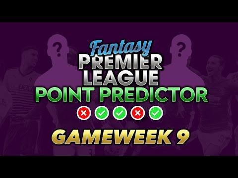 Gameweek 9 Point Predictor For Fantasy Premier League | FPLBET