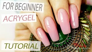 AcryGel Nail Extensions Tutorial Step by Step using Nail Forms - Lesson Part 1