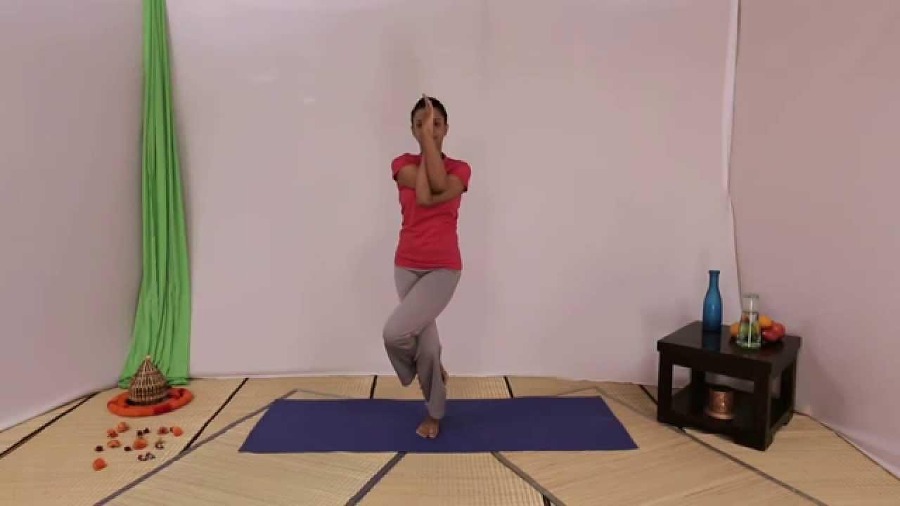 Garudasana, Eagle Pose in Hindi Online Yoga Classes