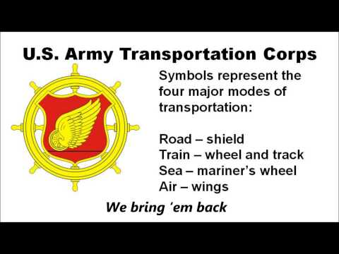 The U S  Army Transportation Corps Song with lyrics - YouTube