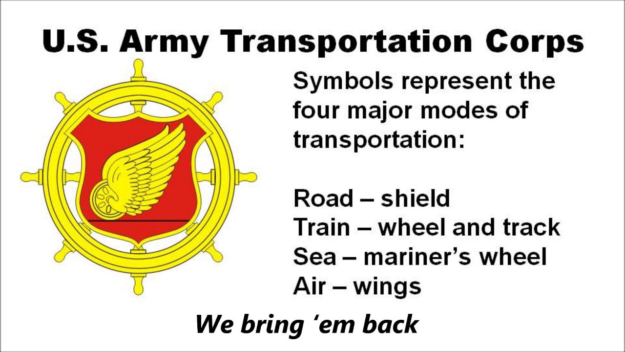 The U S  Army Transportation Corps Song with lyrics