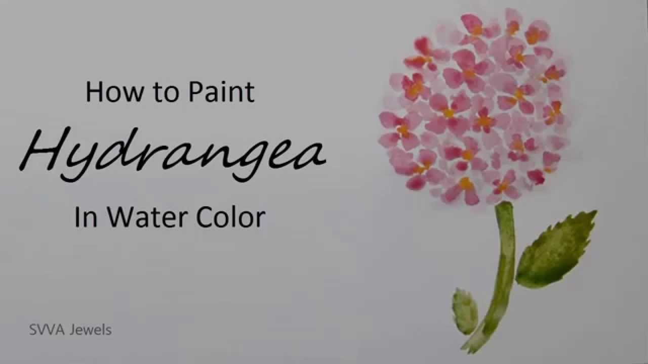 How To Paint Hydrangea With Watercolor