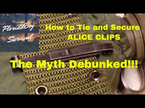 How to Tie and Secure ALICE clips - The Myth Debunked!!!