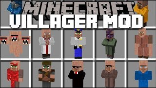 Minecraft INSANE VILLAGER MOD / SURVIVE THE EVIL VILLAGERS!! Minecraft