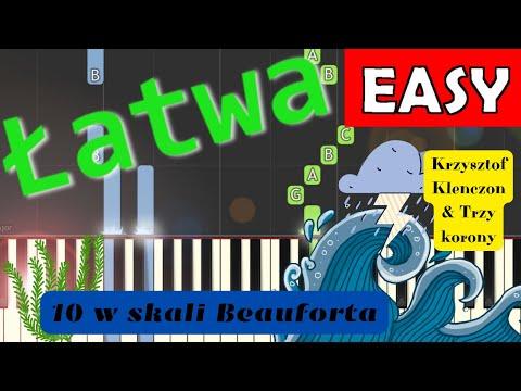 🎹 10 w skali Beauforta (K. Klenczon) - Piano Tutorial (łatwa wersja) 🎹
