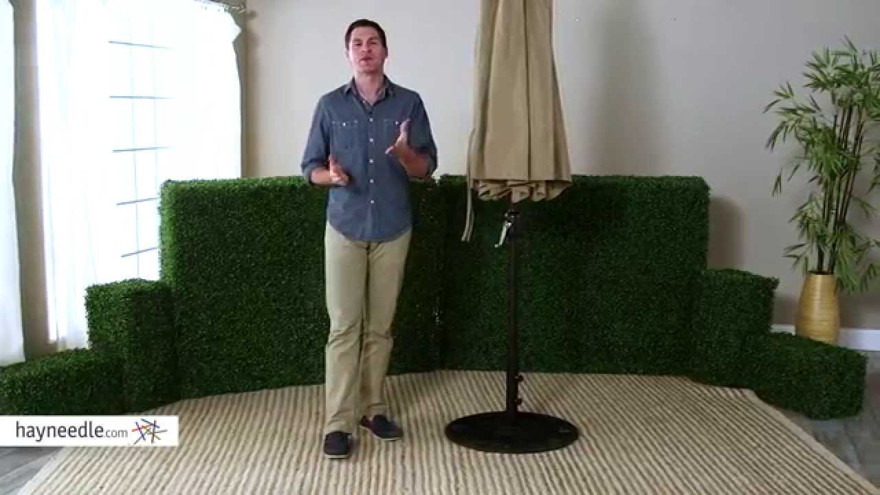European Patio Umbrella Stand   Product Review Video   YouTube