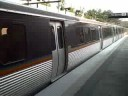 Marta train arriving and leaving Lindbergh