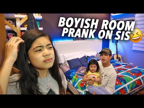 Boyish Room Prank On Sister!! | Ranz and Niana