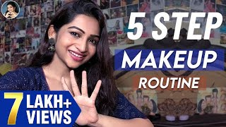 My **QUICK & EASY 5 STEP** Makeup Routine | World of Makeup With Nakshathra