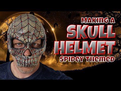 Making A Skull Helmet Spidey Themed