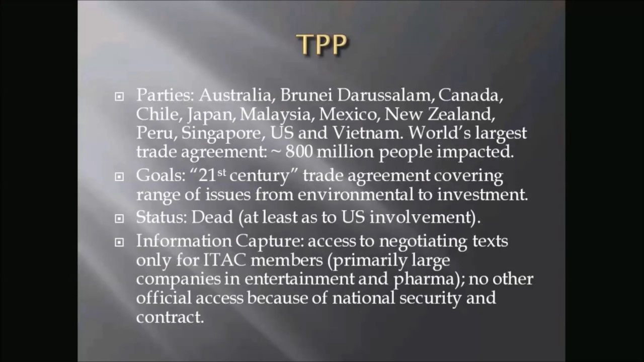 Trade Negotiation Processes/Public Freeze Out as a Form of Corruption -  Presented by David Levine