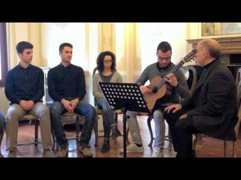 Roberto Fabbri, un giorno di lezioni al Conservatorio Buzzolla di Adria