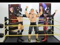 Unboxing/Reviewing WWE NXT Takeover Ring/John Cena,Finn Balor Elite Figures/Stop Motion