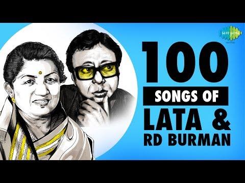 Top 100 Songs Of Lata Mangeshkar & R.D.Burman | लता एंड र डी बर्मन के 100 गाने | One Stop Jukebox