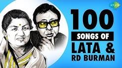 Top 100 Songs Of Lata Mangeshkar & R.D.Burman   लता एंड र डी बर्मन के 100 गाने   One Stop Jukebox