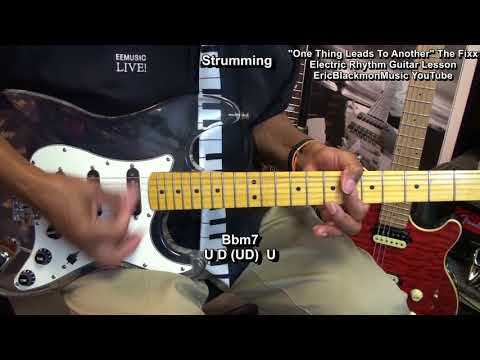 The Fixx ONE THING LEADS TO ANOTHER Guitar Lesson #1 EricBlackmonGuitar HQ