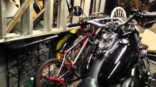Harley-Davidson 7/8 to 1 inch dirt bar conversion
