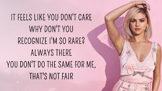 Cover images Selena Gomez - Rare (Lyrics)