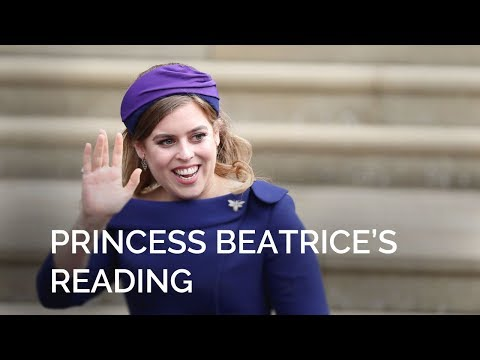 The Royal Wedding: Princess Beatrice gives a reading