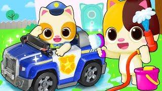 Car Wash Song   Police Car   Nursery Rhymes   Kids Songs   BabyBus
