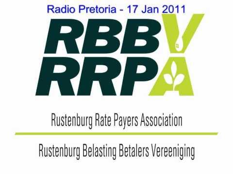 Radio Pretoria 17 Jan 2011 - North West Roads (Rustenburg Rate Payers Association)