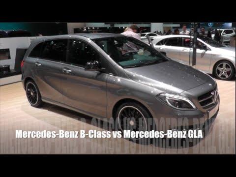 mercedes benz b class vs mercedes benz gla youtube. Black Bedroom Furniture Sets. Home Design Ideas