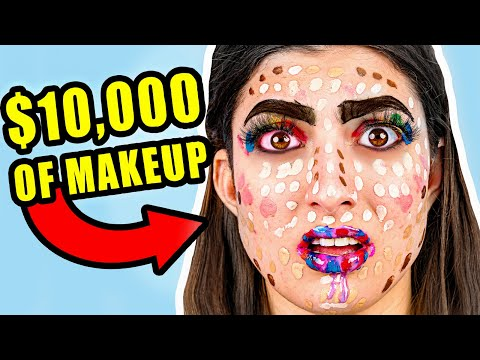 Putting My Entire Makeup Collection On My Face ($10,000 WORTH OF MAKEUP)