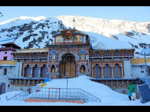 Snowfall At Badrinath Temple - YouTube